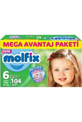 Molfix 3D Extra Large 6 Beden 104 adet Mega Avantaj Paket