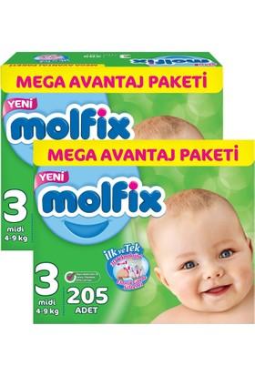 Molfix 3D Midi Mega Avantaj Paketi 3 Beden 410 Adet