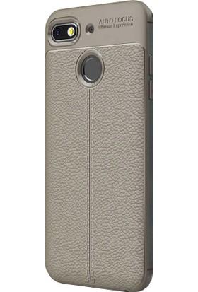 CoverZone General Mobile GM 8 Go Silikon Kılıf Antrasit + Temperli Ekran Koruma