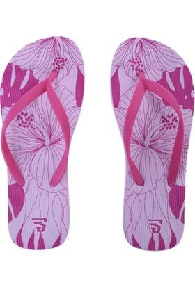Sportive Pembe Çiçekli Parmak Arası Kadın Terlik