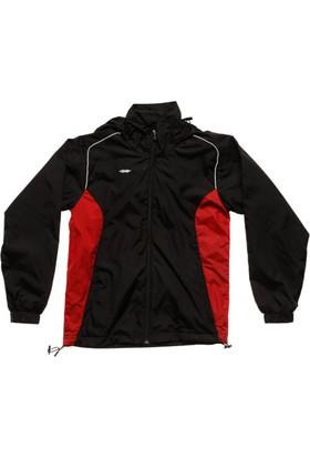 Sportive Elit Erkek Kapüşonlu Siyah Yağmurluk