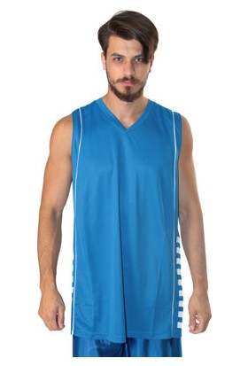 Sportive Gator Erkek V Yaka Mavi Basketbol Forması
