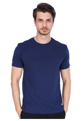 Sportive Erkek Lacivert Bisiklet Yaka T-Shirt