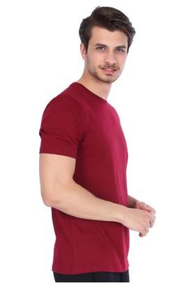 Sportive Erkek Bordo Bisiklet Yaka T-Shirt