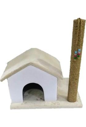 Pets Süngerli 55 cm Tırmalamalı Dekoratif Kedi Evi