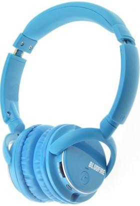Bludfire HW1 Bluetooth Mikrofonlu Radyo Mp3 Kulaklık 8 GB - Mavi