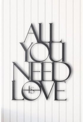 Angemiel Tek İhtiyacın Aşk Metal Duvar Tablosu Ev Ve Ofis Dekorasyonu Tablo