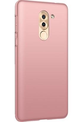 Ehr. Huawei GR5 2017 Luxury Köşeli Sert Rubber Kılıf + Ekran Koruyucu Cam