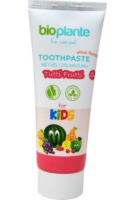 BioPlante Organik Florürsüz Çocuk Diş Macunu 3+ Yaş 75 ml.