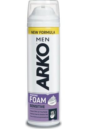 Arko Men Tıraş Köpüğü Sensitive Hassas Ciltler için 200 ml