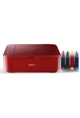 Canon MG 3650 (Renkli Yazıcı + Tarayıcı + Fotokopi + Wifi + Dublex) + 4 Adet Bitmeyen Kartuşlu