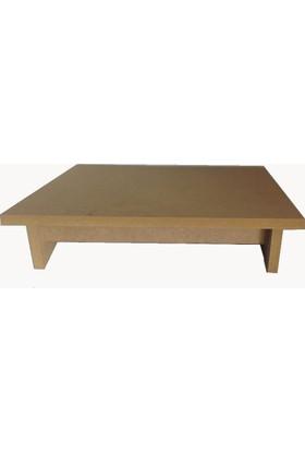 Wooden Gold Masa Altı Ayak Desteği Ergonomik ve Boyanabilir MDF