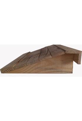 Wooden Gold Masa Altı Ayak Desteği Eskitme Tarz