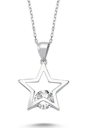 MyGümüş Tektaş Yıldız Gümüş Kolye