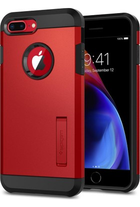 Spigen Apple iPhone 8 Plus - iPhone 7 Plus Kılıf Tough Armor 2 Red - 055CS24040