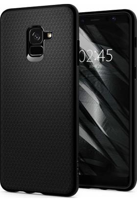 Spigen Samsung Galaxy A8 Plus (2018) Kılıf Liquid Air Matte Black - 591CS22757