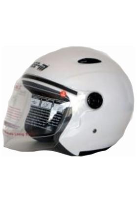 Spyder Kask Yazlık Yarım Camlı 601 Beyaz Small Free-M