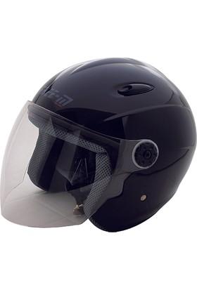 Spyder Motosiklet Kaskı Yarım Camlı 601 Mat Siyah XL Free-M
