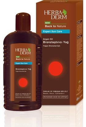 Herbaderm Bronzlaştırıcı Yağ 200 ml + Herbaderm Güneş Sonrası Balsam 200 ml Hediyeli Set