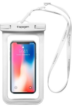 Spigen Universal (Tüm Cihazlarla Uyumlu) IPX8 Sertifikalı Su Geçirmez Kılıf White - 000EM23353