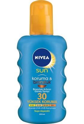 Nivea Sun Koruma&Bronzluk Bronzluk Arttırıcı Güneş Spreyi Gkf 30 200Ml