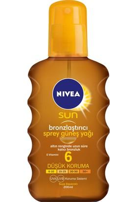 Nivea Sun Bronzlaştırıcı Sprey Güneş Yağı Gkf 6 200Ml