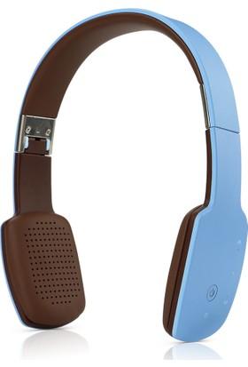 Schulzz 9600 Mini Bluetooth Mikrofonlu Kulaküstü Kulaklık Mavi