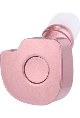Schulzz S560 Mini Kablosuz Bluetooth Mikrofonlu Kulaklık Rose Gold