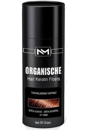 Organische Hair Building Fibers 50 gr Orta Kahve Toppik Saç Tozu