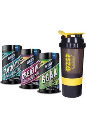 West Nutrition Glutamin + Bcaa + Kreatin + Shaker