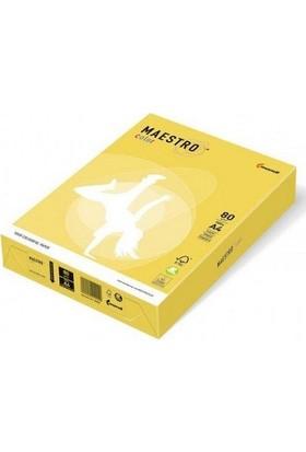 Maestro Color A4 Renkli Fotokopi Kağıdı Sarı (Kanarya) CY39 1 Paket 500 Sayfa