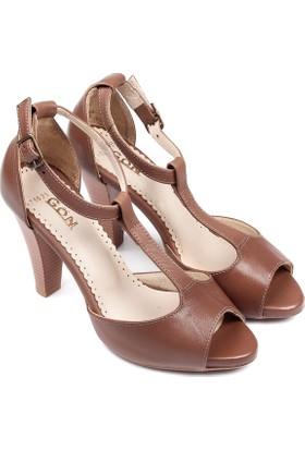 Gön Deri Kadın Sandalet 06025