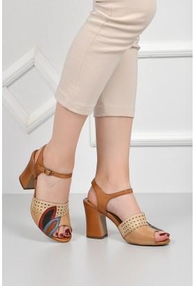 Gön Deri Kadın Sandalet 35009