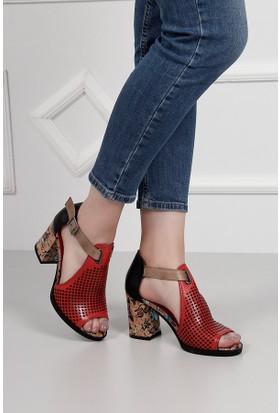 Gön Deri Kadın Sandalet 35889