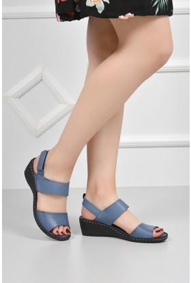 Gön Deri Kadın Sandalet 45404