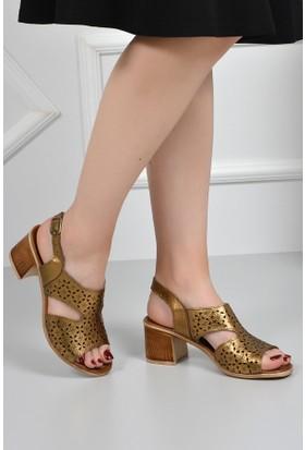 Gön Deri Kadın Sandalet 45806