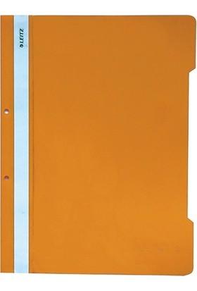 Leitz 4189 Plastik Telli Dosya 50'li Renk - Turuncu