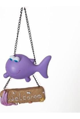 Giftpoint Lila Balık Welcome Kapı Süsü