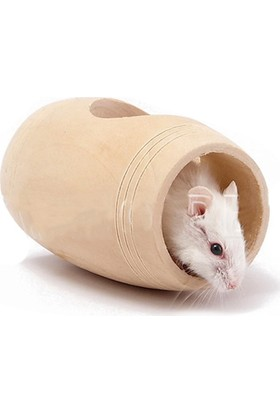 Carno Hamster Oyuncağı Naturel Ahşap Varil 8 x 5 x 5Cm