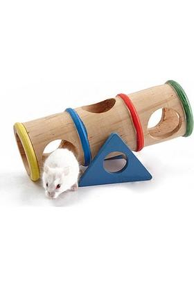 Carno Hamster Oyuncağı Gökkuşağı Delikli Tahterevalli 16 x 7,8 x 7Cm