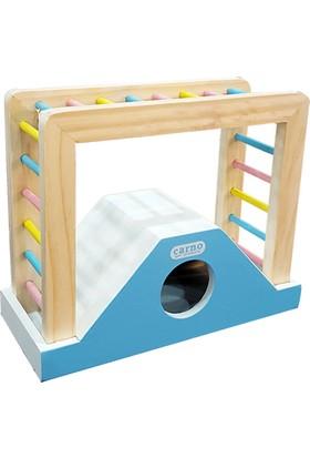 Carno Ahşap Merdiven Hamster Oyuncağı 19,5 x 15,5 x 8,5 Cm