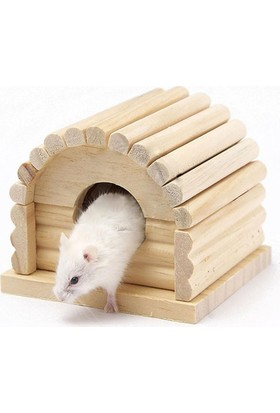 Carno Hamster Evi Naturel Ahşap No:114 10 x 10 x 9Cm