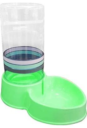 Diil Kedi Köpek Otomatik Su Kabı 8Lt Yeşil 41,5 x 42 x 23Cm