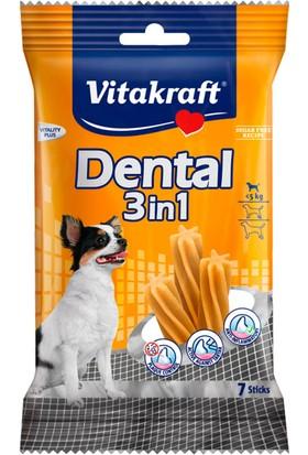 Vitakraft Dental 3 İn 1 Mentol Ve Çinko Katkılı Küçük Köpek Ödülü 7 Stick