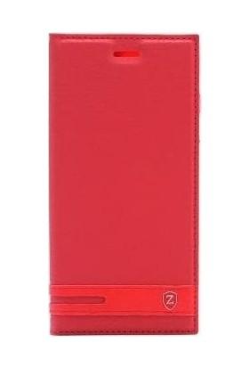 Teleplus General Mobile GM 8 Go Elite Mıknatıslı Kapaklı Kılıf Kırmızı