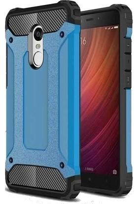 Teleplus Xiaomi Redmi 5 Çift Katmanlı Tank Kapak Kılıf Mavi