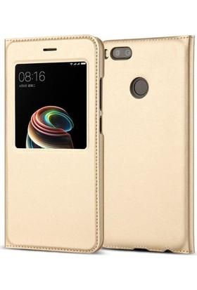 Teleplus Xiaomi Mi A1 Pencereli Kılıf Gold