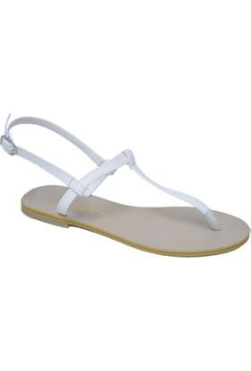 David Jones Kadın Parmak Arasi Sandalet Beyaz