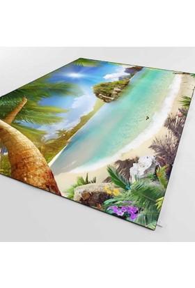 Else Kadser Deniz Kumsallı Manzara 3D Halı