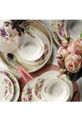 Kütahya Porselen Bone Jasmine 24 Parça 6 Kişilik Yemek Takımı 9252 Dekor
